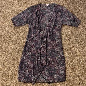 Small LuLaRoe Shirley Kimono Purple, Blue, & Pink
